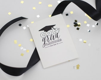 conGRADulations card // CONGRATULATIONS GRADUATE card // Graduation card // GRAD card // Card for Graduates // Graduation occasion card
