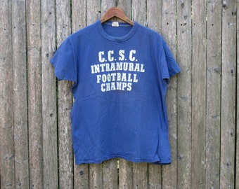 Vintage Central Connecticut Football Tshirt Mens Small