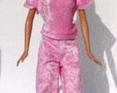 Handmade Jogging Suit for Barbie Dolls Light Pink