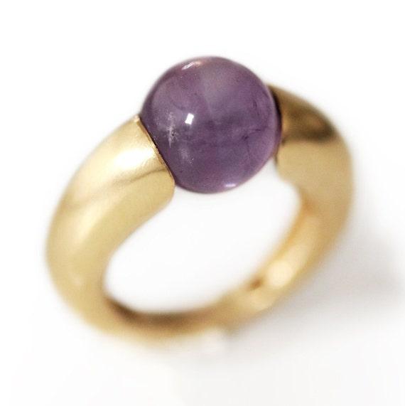 amethyst ring simple ring gold silver ring gemstone ring