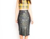 Black Mermaid Pencil Skirt