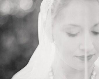 Wedding veil, circle drop veil, fine tulle veil, white drop veil, drop veil, ivory drop veil, ivory circle veil