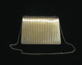 1911 Silver Wallet Purse Antique Coin Purse Credit Card Business Card Wallet Edwardian Charge Purse