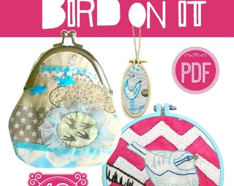 Bird Embroidery pattern Pdf.Hand embroidery design.Bird design.Vintage swallow.Hummingbird.Needlework.Bird motif.Hand embroidery pattern