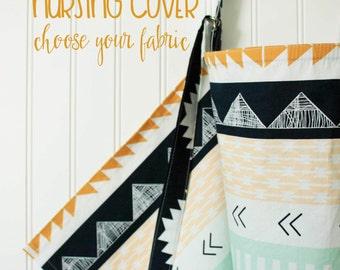 Nursing Cover, breastfeeding cover, custom nursing cover, choose your fabric