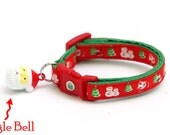 Christmas Cat Collar - Festive Friends  - Small Cat / Kitten Size or Large Size