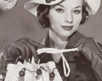 PDF Vintage Pattern Book Hiawatha Hats & Bags By Melina Book No. 115 Patterns for 32 Lovely Hats and Bags