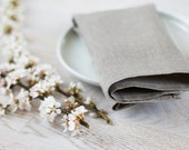 Cloth Natural Linen Napkins Wedding Linen Gray Cloth Napkins Set 4 White Classical Napkins Eco Friendly Napkins 45x45cm / 18x18 inches