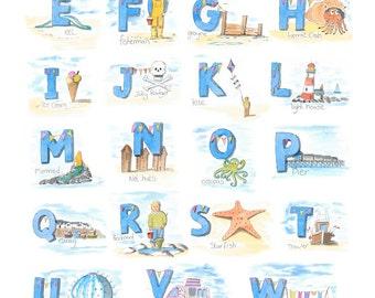 Seaside alphabet