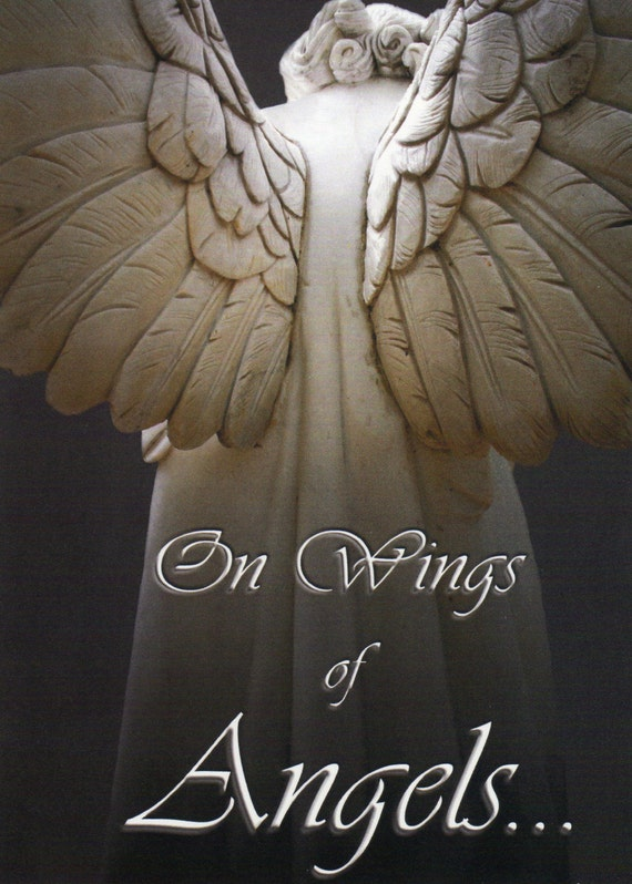 "On Wings of Angels (5"" x 7"" photographic greeting card - blank inside/with envelope)"