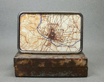 Belt Buckle Austin Texas Vintage Map for Men or Women
