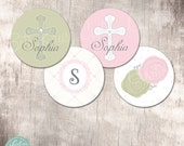 Classy Communion/Baptism Customizable 2 inch Circles by Beth Kruse Custom Creations