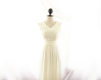 Lace Wedding Dress Cream Jazz Age Rehearsal Dinner Prom Gown Bridesmaid Off White Cocktail Evening Dress Elven Ethereal Lotr Romantic