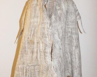 Felted scarf, OOAK Art to Wear wrap, shawl, cobweb wool shawl, Felted scarf, Nuno felted scarf, Felt shawl BFL wool