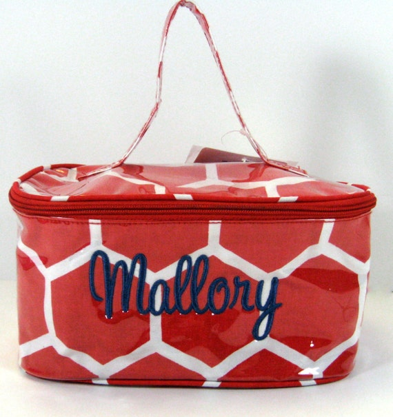 Honeycomb Train Case in Red