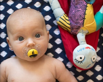 Spiral Hill Nightmare Before Christmas Custom Hand Painted Pacifier by PiquantDesigns