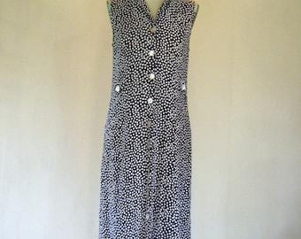 R&K Polka Dot Sleeveless Day Dress