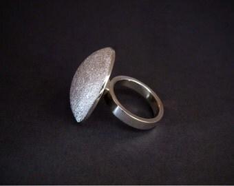 mushroom silver ring