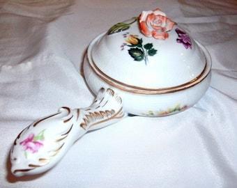 Sweet Cottage Rose Covered Trinket Box