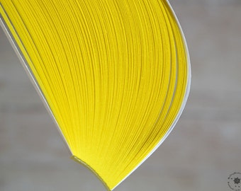"""YELLOW 2 mm paper strips //  Paper Quilling Strips //  Yellow // 100 STRIPS // 2 mm wide //  297 mm 11,7"""" long"""