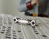 Vintage Tie Clip Maltese Cross Mother of Pearl Lapel Pin Tie Clasp Men's Jewelry Vintage Guy Stuff 1960s