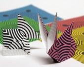 Optical Illusion Origami Paper - Medium 5 inch, 8 sheets, Optical illusion magic sphere,  Origami Supplies, Paper Supplies, Handmade Paper