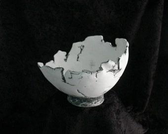 Decorative Bowl, Hand Built Porcelain