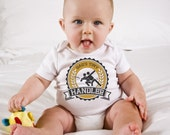 Ultimate Frisbee Baby Onesie, Daddy's Little Handler Diaper Shirt