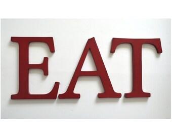 EAT Sign - wood kitchen sign