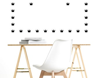Vinyl Decal Stickers. Wall Pattern: Crowns