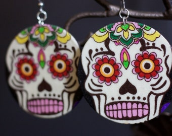 Sugar Skull (Dia De Los Muertos) Earrings
