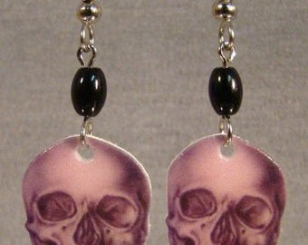 Skull Dangle earrings - x-ray - Halloween Costume