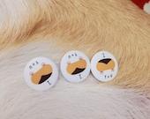 Corgi butt pin buttons