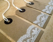 Vintage/Steampunk Tags with Lace Design - Great for Christmas gifts!