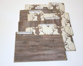 Recipe Dividers, Deer Head Recipe Cards, Set of 6, Brown and Cream Recipe Dividers, 4x6 Recipe Tabs, Taxidermy Recipe Dividers