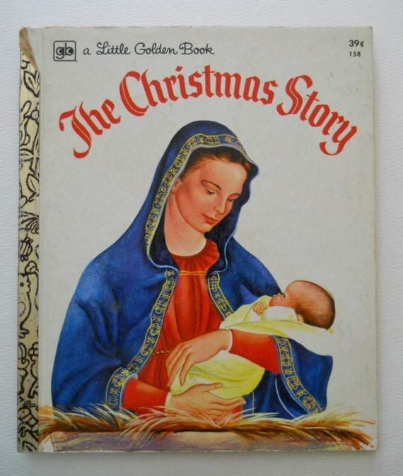 Vintage Little Golden Book The Christmas Story Childrens