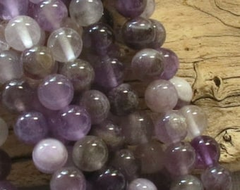 Amethyst Beads -  8mm Rounds - 8 inch strand of 25 beads