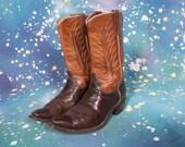 1960's Two Tone COWBOY Boots Women's Size 9 M