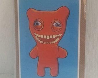 Staring Fuggler Greeting Card (designed by Matte Black)