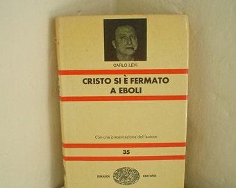 Christ Stopped at Eboli by Carlo Levi - Italian Language Book - Cristo Si E Fermato a Eboli