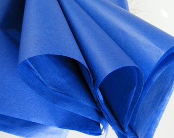 Royal Blue Tissue Paper | 48 Sheets | Gift Wrap Idea | Favor Box Packaging | DIY Pom Pom Supplies | Tissue sheets | Paper Crafts