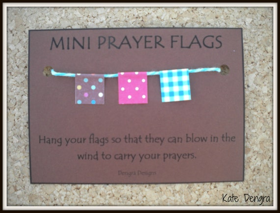 MINI PRAYER FLAGS Say a Prayer For Hope Luck Wish