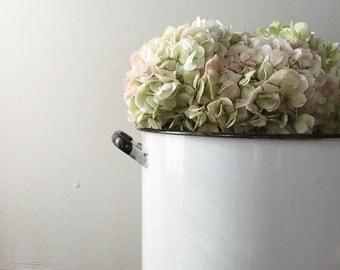 RESERVED Vintage Enamel Pot w/Lid
