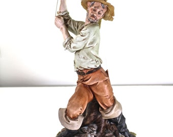 Capodimonte signed Tyche Toska Fisherman