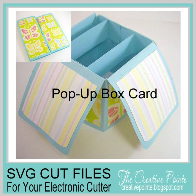 Pop-Up Box Card SVG Cutting Template Only
