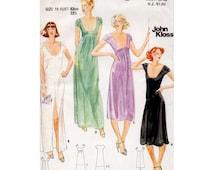 1970s Scoop Neck Evening Dress Pattern Butterick 5706 Designer John Kloss Vintage Petites Sewing Pattern Bust 32.5 FF Unused