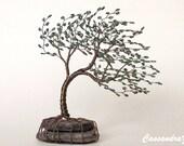 Wind Blown Beaded Bonsai Wire Tree Sculpture Small Windblown- MADE TO ORDER Custom
