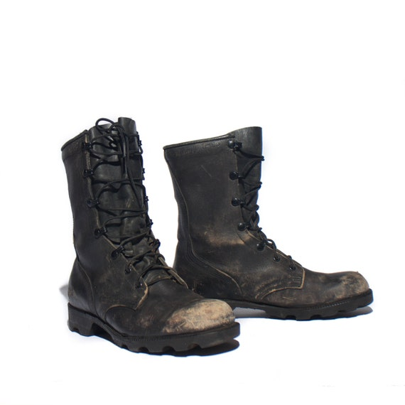 6.5 W 1993 Vintage Distressed Combat Boots Standard Issue