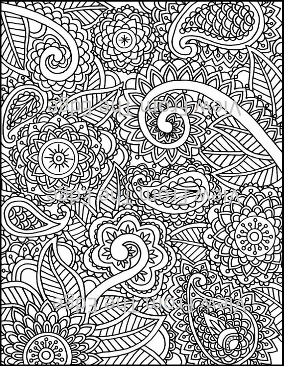 mehndi designs coloring book pages - photo#9