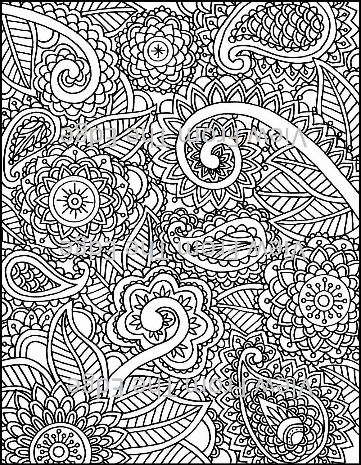 Coloring pages henna - Like This Item